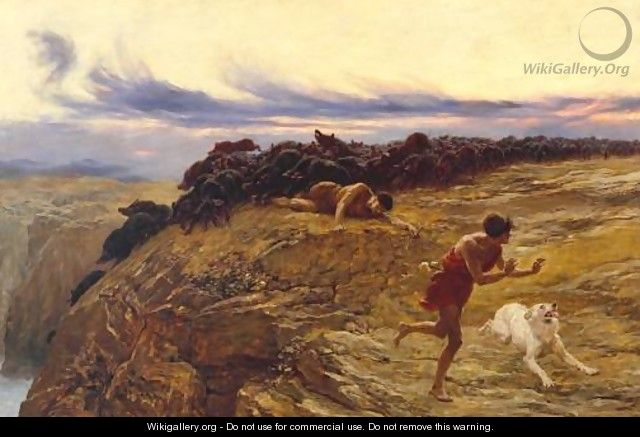 The Miracle of the Gaderene Swine - Briton Rivière
