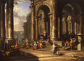 The expulsion of the merchants from the temple - Caspar Andriaans Van Wittel