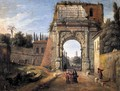 Rome, View of the Arch of Titus - Caspar Andriaans Van Wittel
