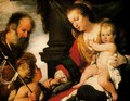 Holy Family with St. John the Baptist - Bernardo Strozzi