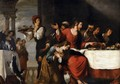 Banquet at the House of Simon (detail 2) - Bernardo Strozzi