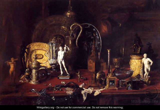 Still life with objects of Wallace - Blaise Alexandre Desgoffe