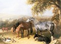 Mares and Foals in a Landscape - John Frederick Herring Snr