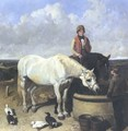 Horses Rider And Stable Hand 1849 - John Frederick Herring Snr