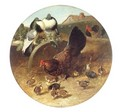 Hen With Chicks and Pigeons - John Frederick Herring Snr