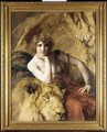 Woman with a lion - Emile Friant