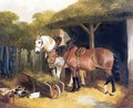 Two Harnessed Cart Horses 1853 - John Frederick Herring Snr