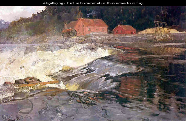 Waterfall at Norway - Fritz Thaulow
