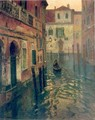 On Canal - Fritz Thaulow