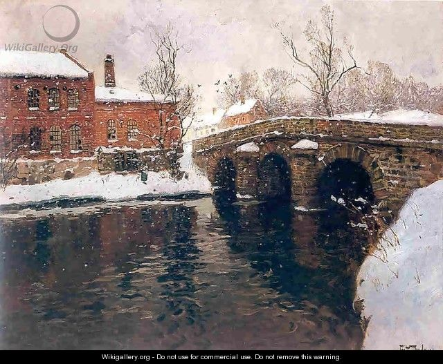 Old bridge - Fritz Thaulow
