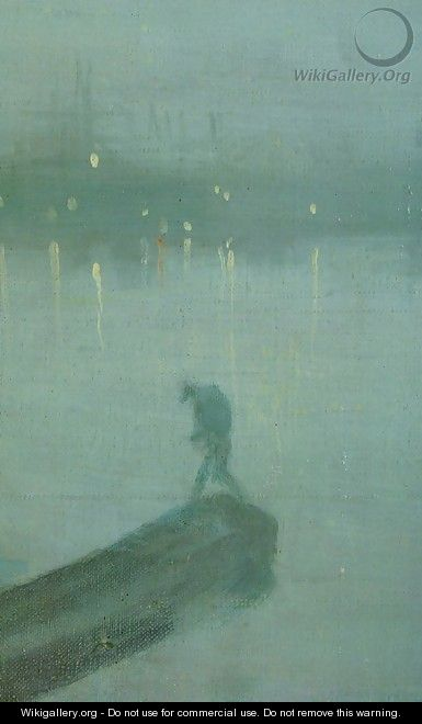 Nocturne in Blue and Gold, Old Battersea Bridge (detail) - James Abbott McNeill Whistler