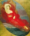Goddess of love (angel of love. Pagan goddess) - Giovanni Segantini