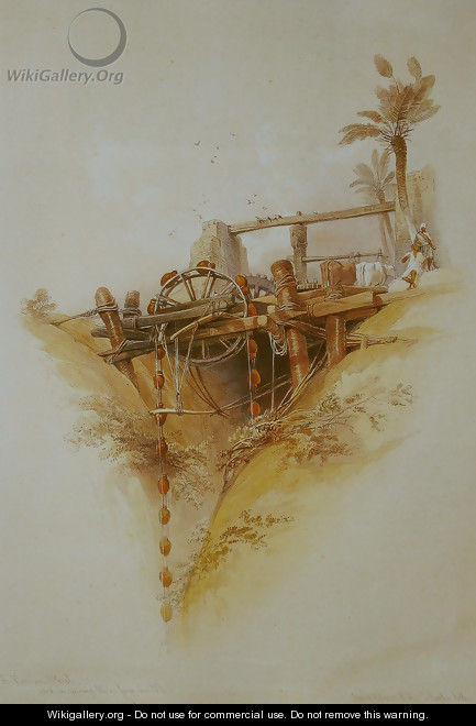 05 Persian Wheel used for drawing water from the Nile - David Roberts