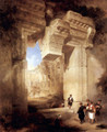The entrance to the Golden Temple in Baalbek - David Roberts