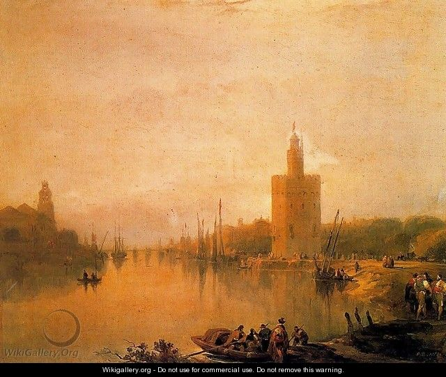 The Guadalquivir and the Golden Tower - David Roberts