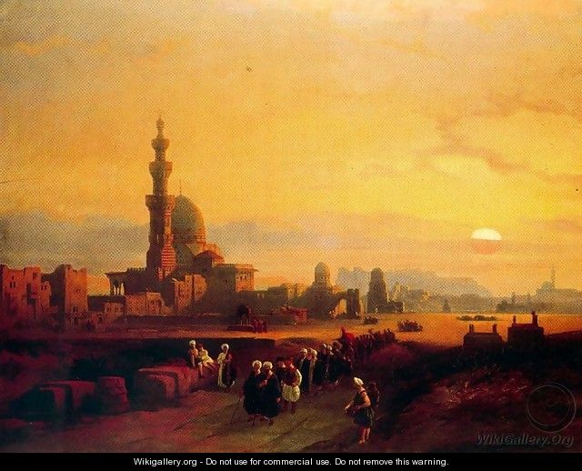 Procession past the Tombs of the Khalifs - David Roberts