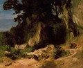 Slope of the Albains Rocky Mountains - Arnold Böcklin