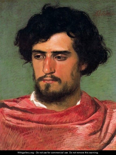 Portrait of a young Roman - Arnold Böcklin