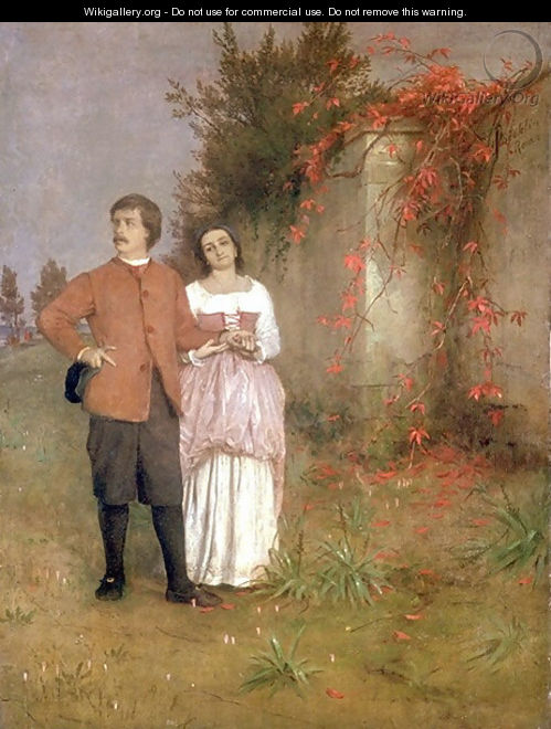 The artist and his wife - Arnold Böcklin