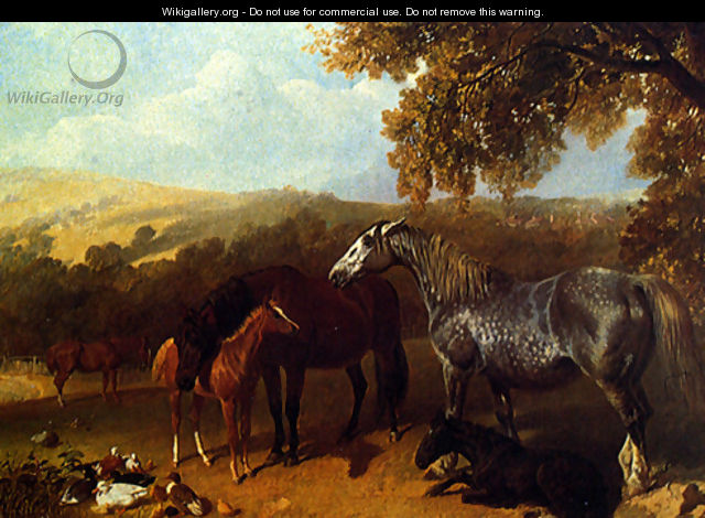 A Farmyard With Numerous Animals - John Frederick Herring Snr
