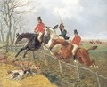 Over the Fence Foxhunting - John Frederick Herring, Jnr.