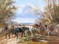 Loading the Log Wagon - John Frederick Herring, Jnr.