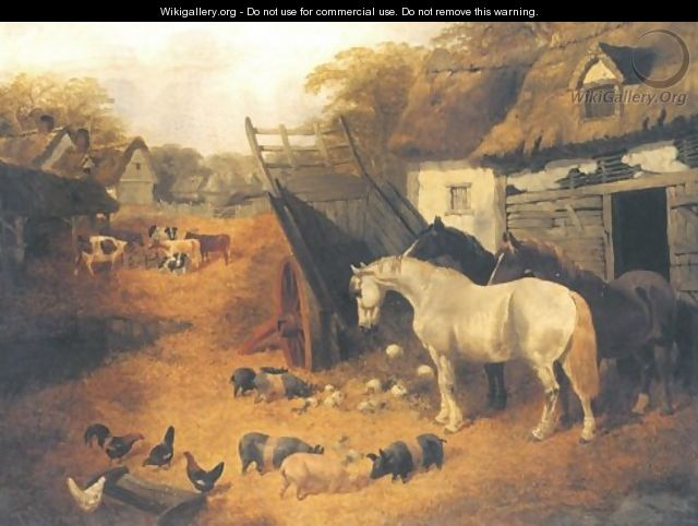In The Farmyard 1851 - John Frederick Herring, Jnr.