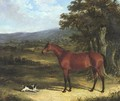 Bay And Spaniel In Landscape 1830 - John Frederick Herring Snr