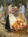 Woman Sellillng Flowers - Childe Hassam