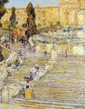 The Spanish Steps, Rome - Childe Hassam