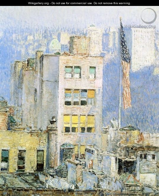 The Flag, Fifth Avenue - Childe Hassam
