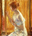 The Flag Outside Her Window, April 1918 - Childe Hassam