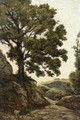 A Large Tree, Path in the Countryside - Henri-Joseph Harpignies