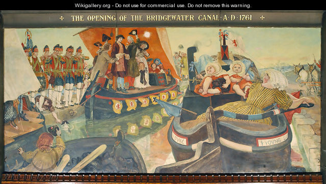 The Opening of the Bridgewater Canal - Ford Madox Brown