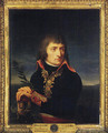 Portrait of Napoleon Bonaparte, his hands resting on the hilt of a sword, before a landscape - Andrea, the Elder Appiani