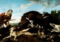 The boar hunting - Frans Snyders