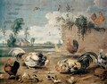 Struggle roosters - Frans Snyders