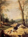 Foxes persecuted by dogs - Frans Snyders