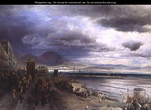 The Coast of Naples - Andreas Achenbach