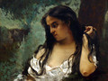 Gypsy in Reflection - Gustave Courbet