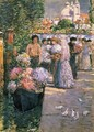 Flower Market - Childe Hassam