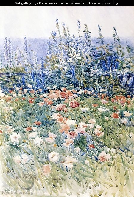 Flower Garden, Isles of Shoals - Childe Hassam
