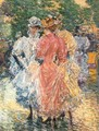 Conversation on the Avenue - Childe Hassam