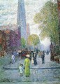 Cathedral Spires, Spring Morning - Childe Hassam