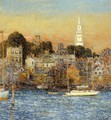 Newport, October Sundown - Childe Hassam