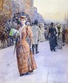 New York Street Scene - Childe Hassam
