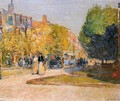 Marlborough Street, Boston - Childe Hassam