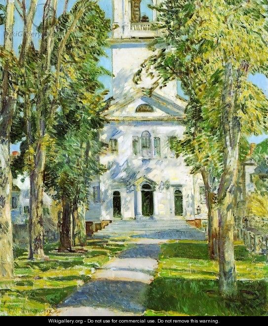 The Church at Gloucester - Childe Hassam