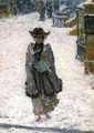 Street Scene, Christmas Morning - Childe Hassam