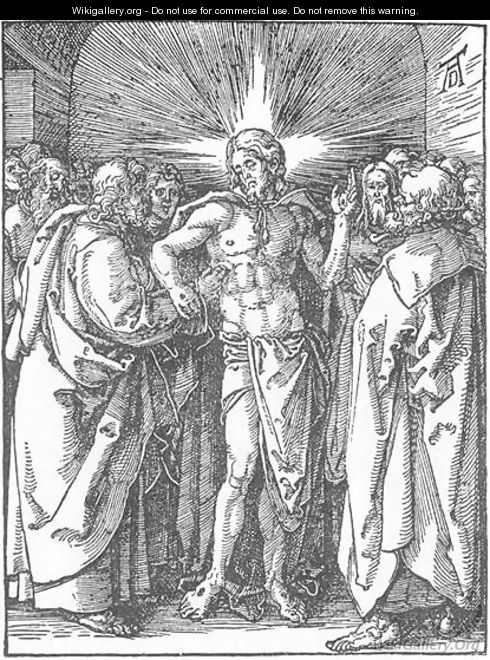 Small Passion, 33. The Incredulity of St Thomas - Albrecht Durer